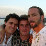 With a coach and friend Zoran Bodic and Dusan Vemic