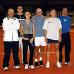 Part of Casanova Team (Federer's physical coach Paganini in the middle),in Altsteatten, Switzerland