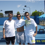 Practice at Australian Open with Tipsarevic (ATP 8)