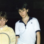Before the match with Thomas Johanson (Australian Open Champion in 2002)